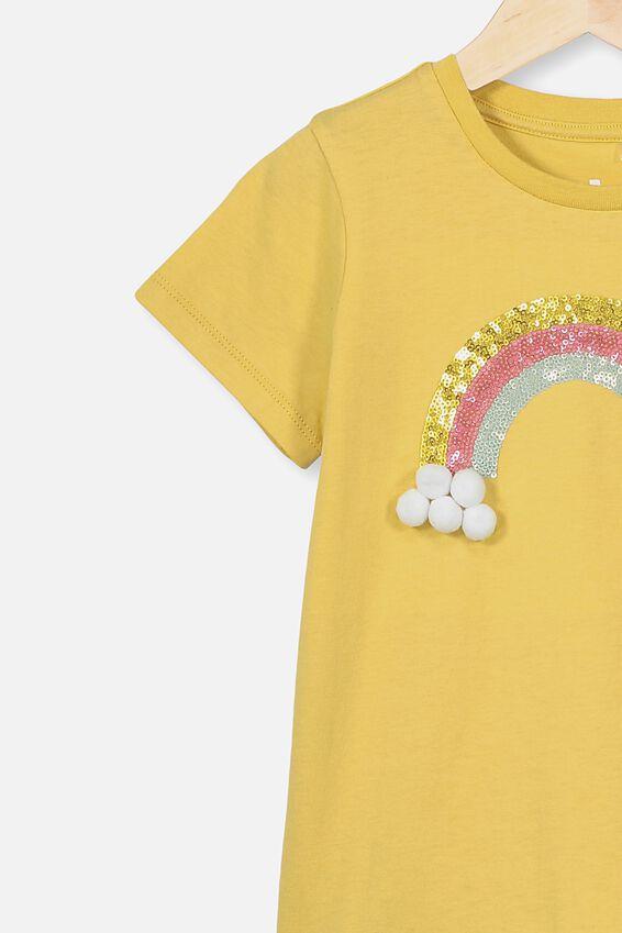 Stevie Ss Embellished Tee, SUNSHINE/RAINBOW CLOUDS