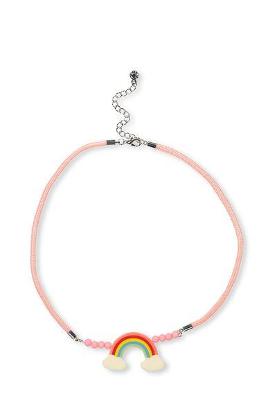 Fruity Charm Necklace, RAINBOW