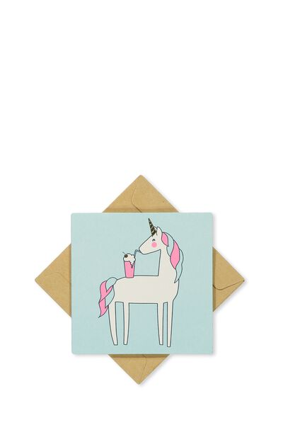 Gift Cards, PALE BLUE UNICORN