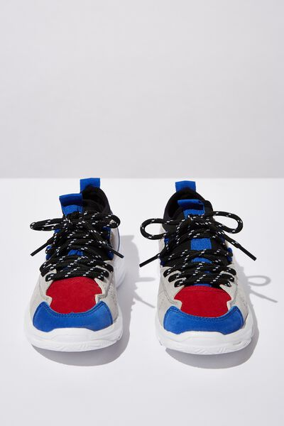 Tech Lace Up Trainer, ULTRA BLUE/RED