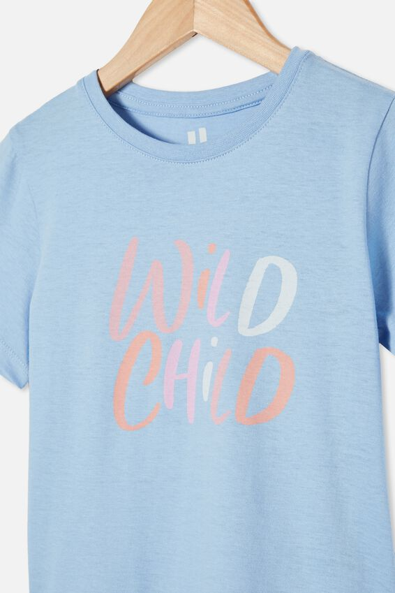 Penelope Short Sleeve Tee, DUSK BLUE/WILD CHILD