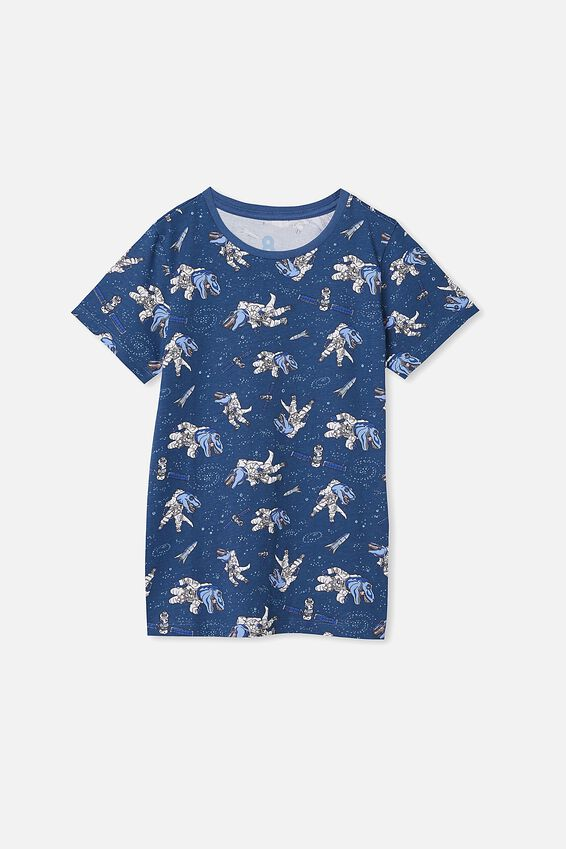 Max Short Sleeve Tee, PETTY BLUE SPACE DINOS