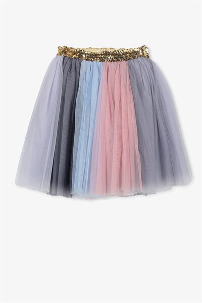 Trixiebelle Tulle Skirt, DUSTY ROSE RAINBOW/MIDI