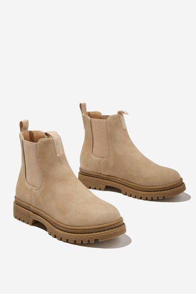 Pull On Gusset Boot, SEMOLINA