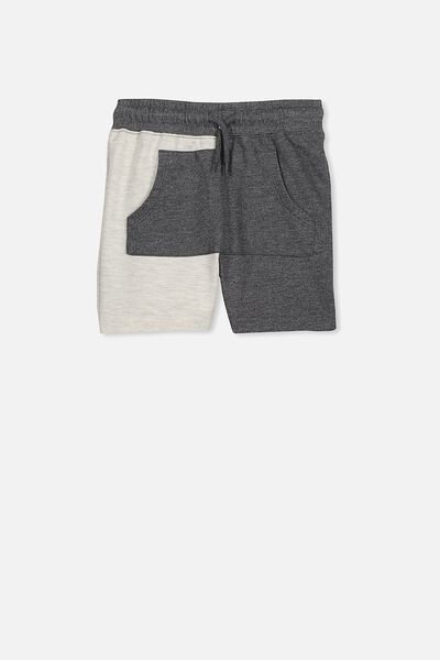 Henry Slouch Short, OATMEAL/CHARCOAL SPLICE