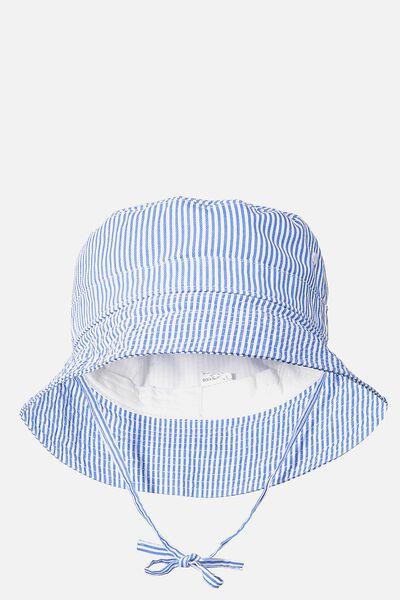 Kids Bucket Hat, PRINCESS BLUE STRIPE