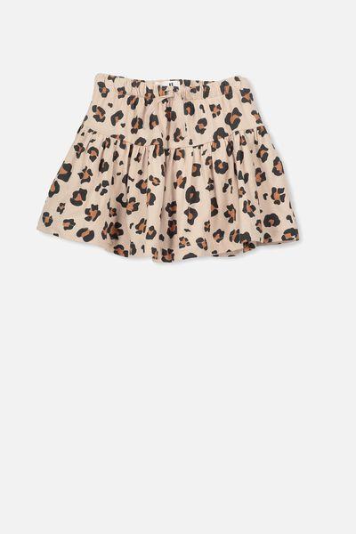 Cilla Skirt, MUSHROOM/ANIMAL