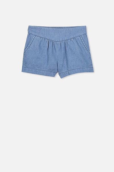 Callie Short, MID BLUE CHAMBRAY