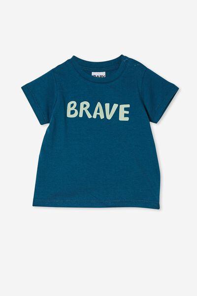 Jamie Short Sleeve Tee, SUBMARINE BLUE/BRAVE