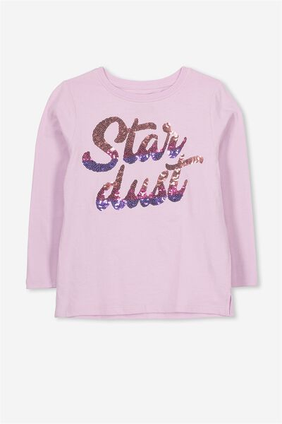 Anna Long Sleeve Split Hem, LILAC SNOW/STARDUST