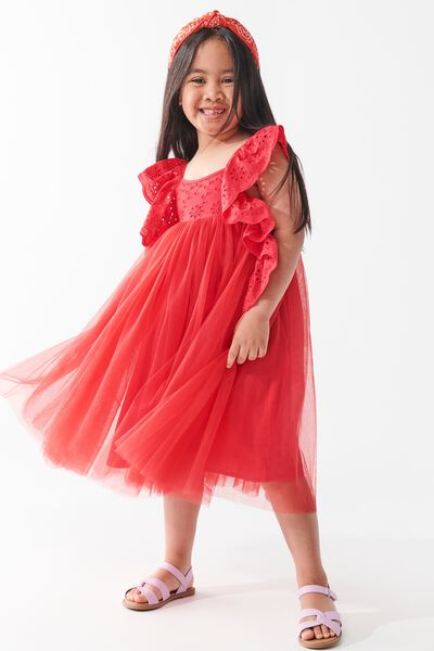 Isabell Dress Up Dress, LUCKY RED