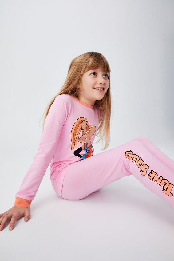 Space Jam Florence Long Sleeve Pyjama Set, LCN WB SPACE JAM SUPERSTAR LOLA CALI PINK