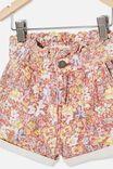 Peta Paperbag Short, VANILLA/COASTAL FLORAL