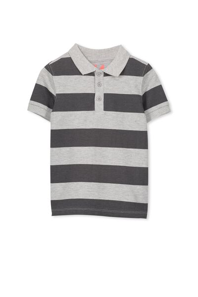 Kenny3 Polo, GRAPHITE/GREY STRIPE
