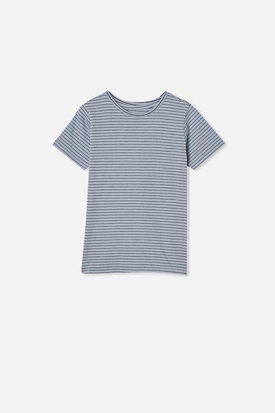 Core Short Sleeve Tee, DUSTY BLUE STRIPE