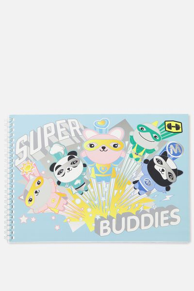 A4 Sketch Book, SUPER BUDDIES