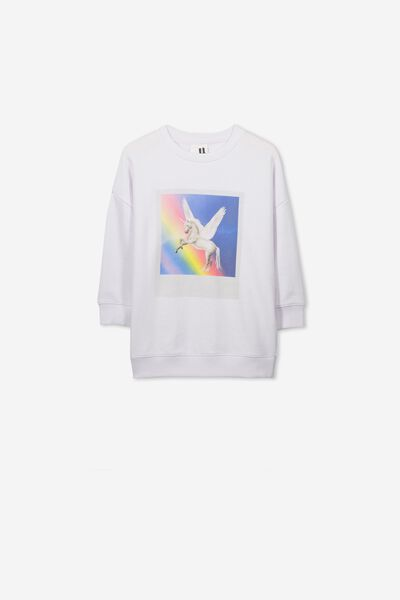 Sage Longline Crew, WHITE/UNICORN PHOTO/DROP