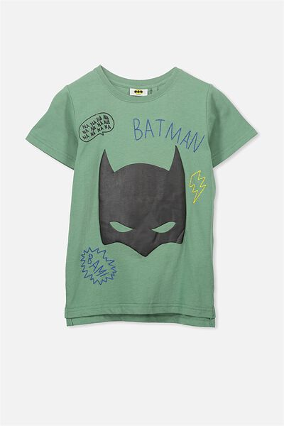 Short Sleeve License Tee, GABBY GREEN/BATMAN EMB
