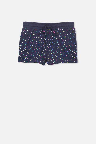 Nila Knit Short, PEACOAT/CONFETTI SPOT