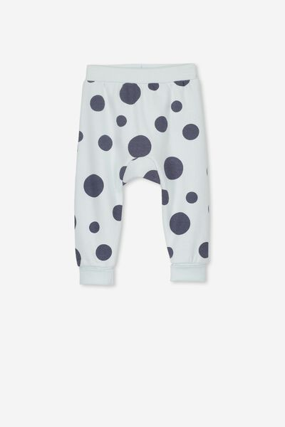 Charlie Trackpant, MINTY BLUE/LARGE SPOTS