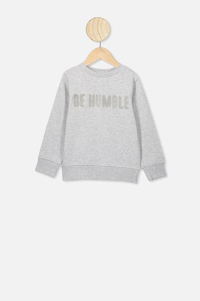 Bond Crew, SUMMER GREY MARLE/BE HUMBLE