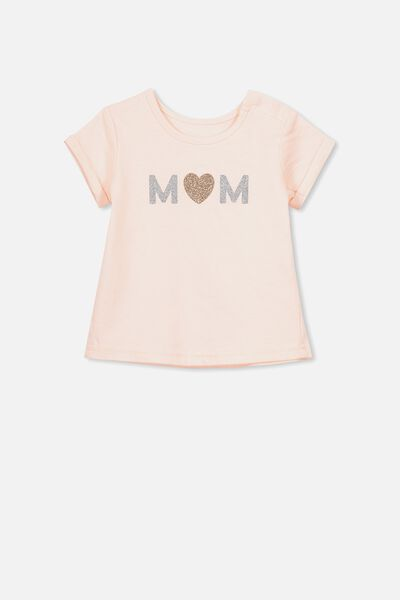 Ginger Ss Tee, SHELL PEACH/MOM