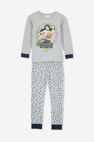 Ruby Long Sleeve Girls Pyjamas, LCN WB WONDER WOMAN