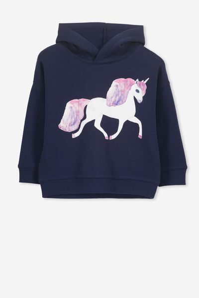 Scarlett Hoodie, PEACOAT/WALKING UNICORN/DROP