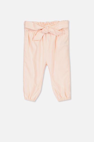 Allie Bow Tie Pant, SHELL PEACH