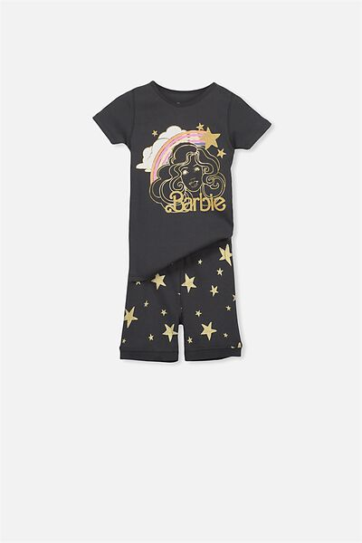 Nicole Short Sleeve Girls Pj, BARBIE STAR