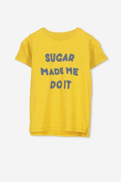 Max Short Sleeve Tee, GOLD GLOW/SUGAR MADE ME DO IT