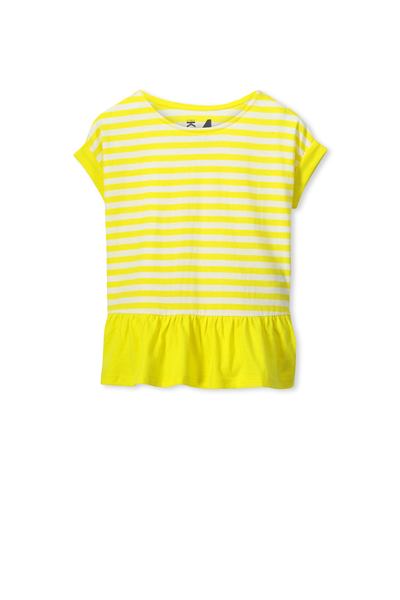 Mimi Ss Top, CITRUS YELLOW/VANILLA STRIPE