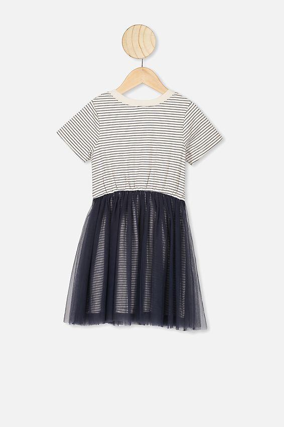 Vivienne Dress Up Dress, INK STRIPE/FLORAL