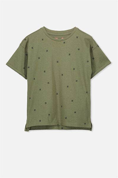 Max Short Sleeve Tee, CLIVE GREEN OK/DS