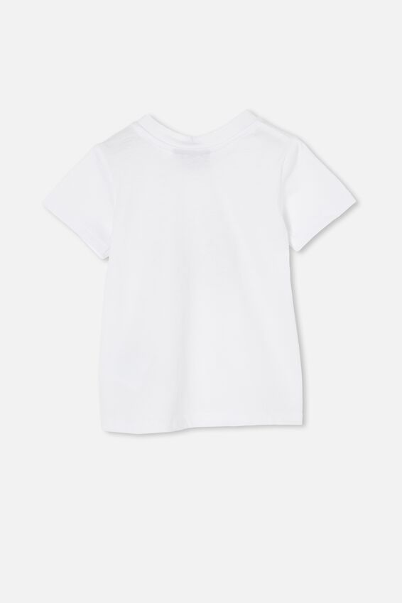 Jamie Short Sleeve Tee-License, LCN APP WHITE/THE BEATLES RAINBOW