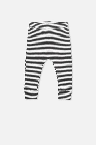Mini Rib Legging, PHANTOM/VANILLA FEEDER STRIPE