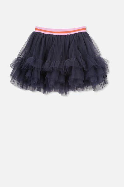 Trixiebelle Tulle Skirt, INK/RUFFLES