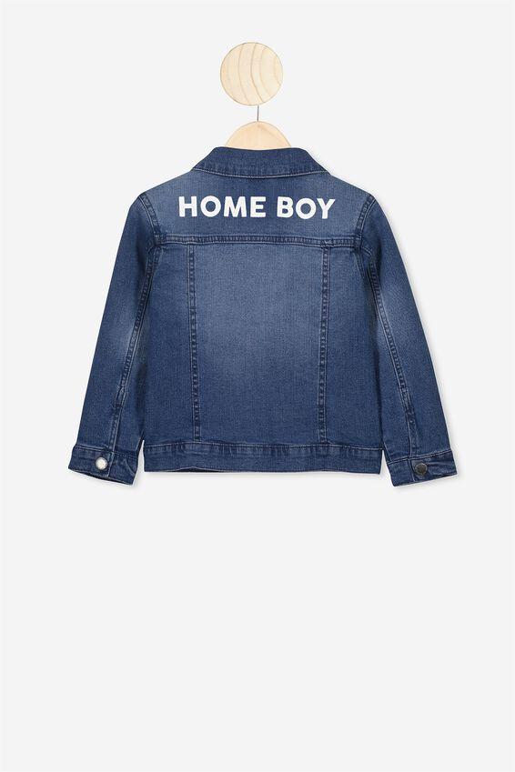 Kids Personalised Denim Jacket, VINTAGE WASH