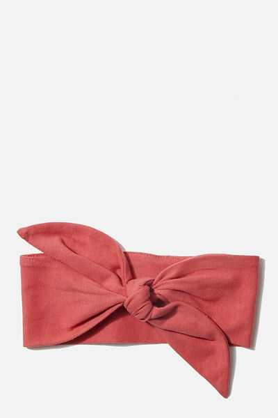 The Tie Headband, RED BRICK