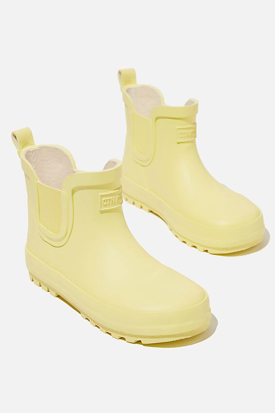 Gusset Gumboots, LEMON DROP