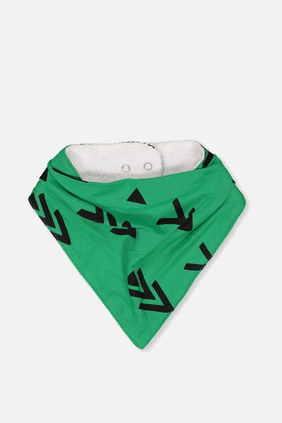Dribble Bib, JELLY BEAN GREEN/ARROW DOWN