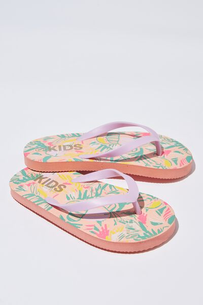 Printed Flip Flop, G PAINTERLY PALMS