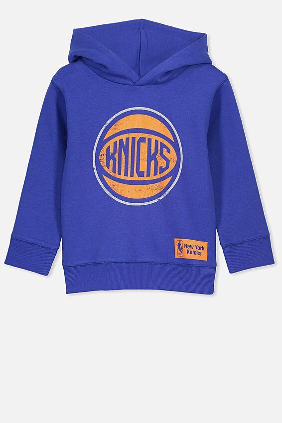 New York Knicks NBA Fleece Hoodie, RUSH BLUE/NY KNICKS