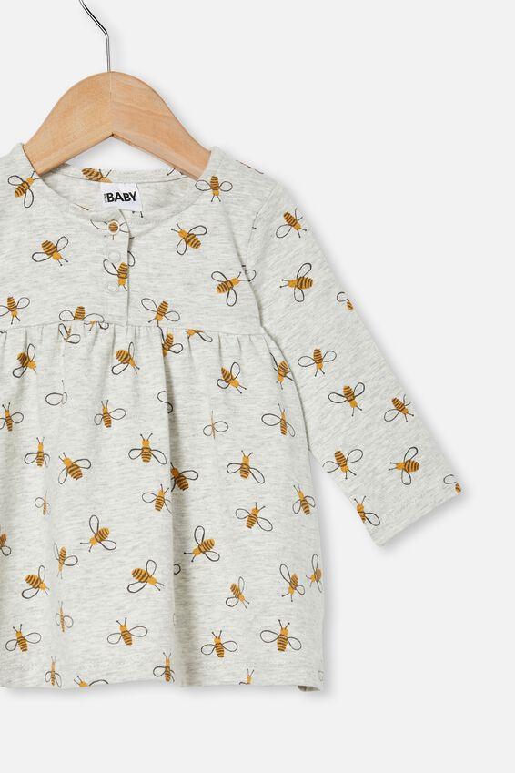 Molly Long Sleeve Dress, CLOUD MARLE/BUDDY BEE