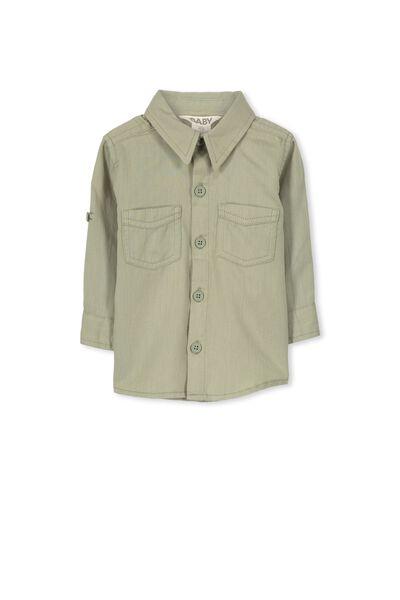 Zac Long Sleeve Shirt, KHAKI