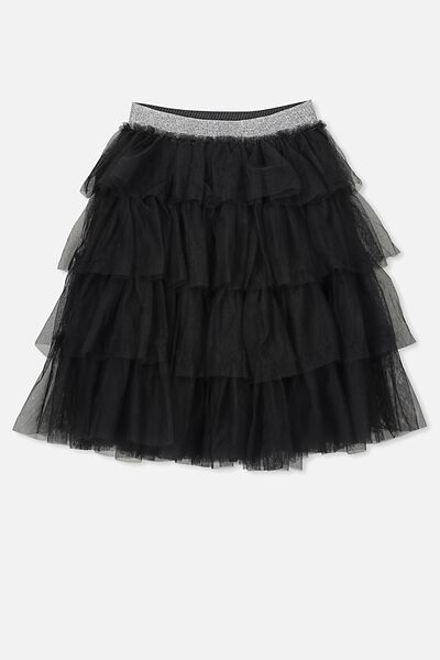 Trixiebelle Tulle Skirt, PHANTOM/TIERED MIDI