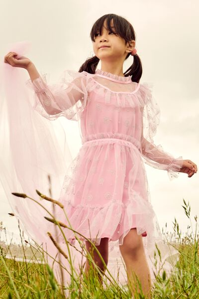 Alice Mccall/Long Sleeve Dress, CALI PINK
