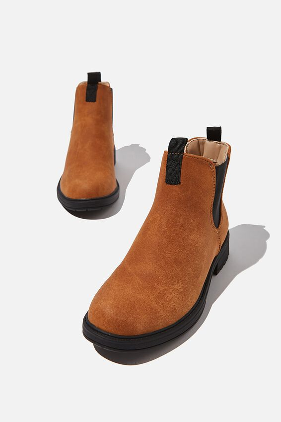 Pull On Gusset Boot, CARAMEL TOFFEE