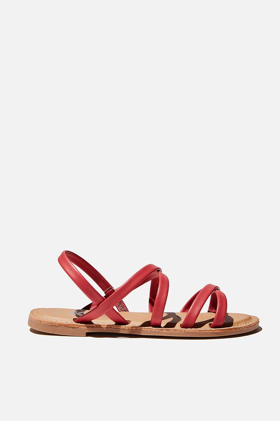 Everyday Strappy Slingback, LUCKY RED