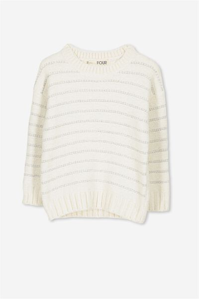 Cherrie Knit Jumper, CREAM